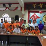 本团长刘玉康、副团长江德祥及财政刘仪龙出席马来西亚会宁总会青年团第八届第一次团员代表大会